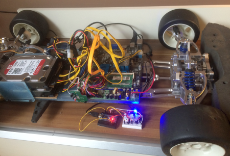 Linux Home PC mit WiringPI GPIO auf RC Auto Chassis