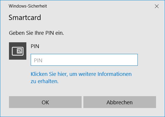 BitLocker To Go Smartcard PIN Eingabe um Speichermedium zu öffnen