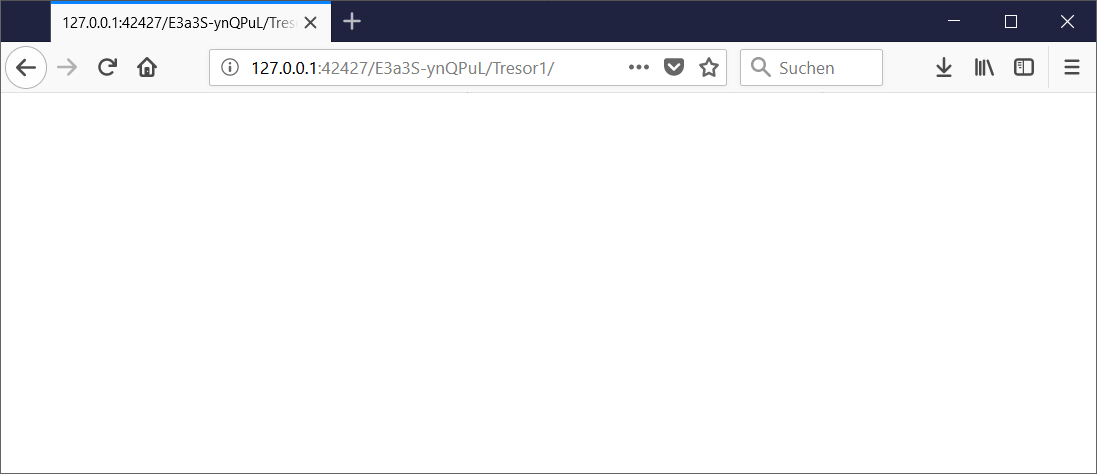 Browseransicht Cryptomator WebDAV Pfad