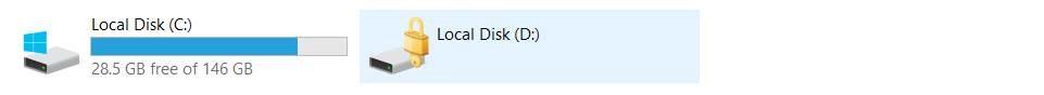 BitLocker Verschlüsselung nur auf D: