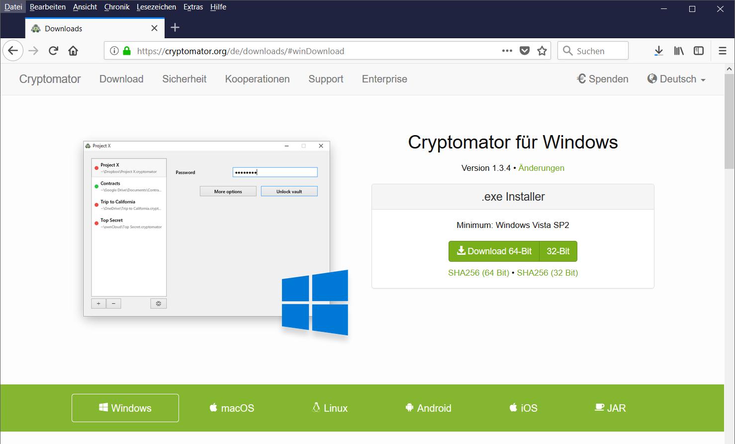 Download Cryptomator für Windows