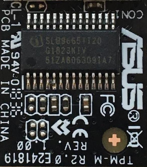 TPM Beispiel: ein Infineon SLB9665TT20